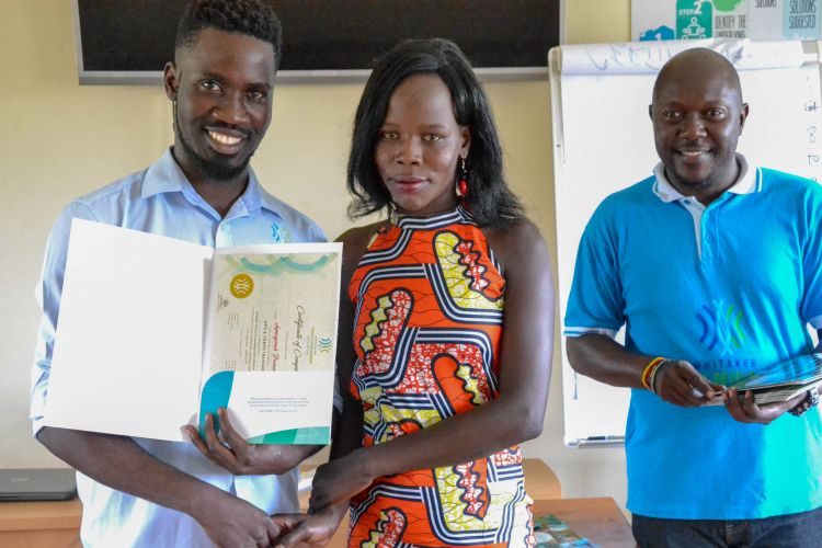 Youth receives certificate