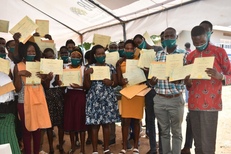 Vocational Course Trainees graduate in Karamoja, Uganda
