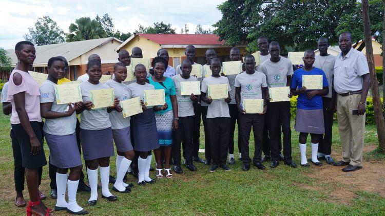 Graduates of the Conflict Resolution Education Program in Acholi