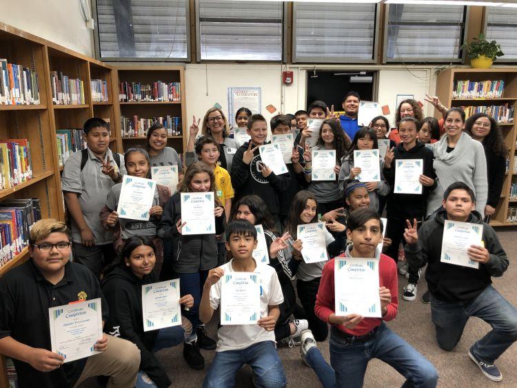 Middle school students graduate from WPDI's Domestic Harmonizer Program
