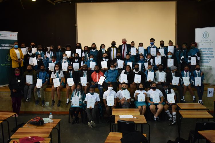 Student graduate from Conflict Resolution Education in schools in South Africa