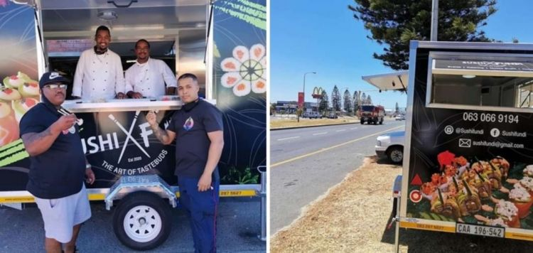 Maruwaan's business, Cape Town's first mobile sushi truck