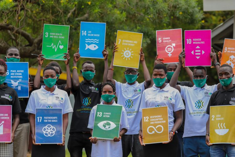 Cohort of Youth Peacemakers in Karamoja, Uganda learning about the SDGs