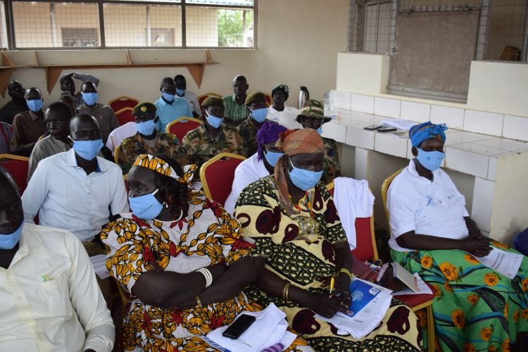 Community in South Sudan come together for a Peace Forum lead by WPDI
