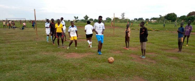 Playing soccer with FUFA in Uganda