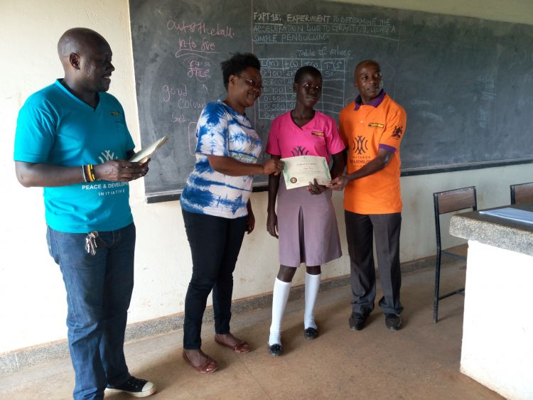 Youth and teachers graduation from WPDI's Conflict Resolution Education