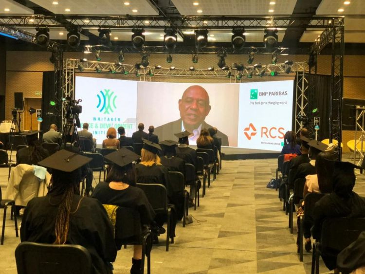 Forest Whitaker speaks virtually at the graduation