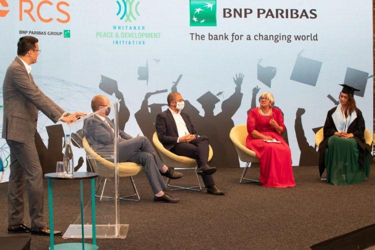 BNP Paribas representatives at the graduation
