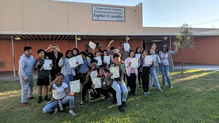 Graduating class of the Domestic Harmonizer Program