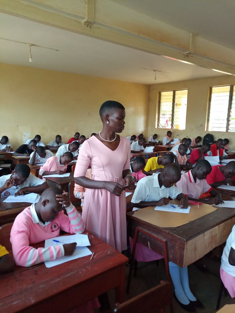 Conflict Resolution Education class in Acholi