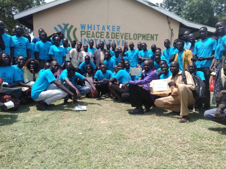 Youth graduating from WPDI training