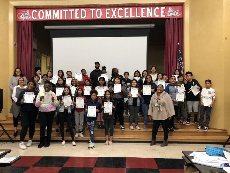 Young middle school students graduate from WPDI's Domestic Harmonizer Program