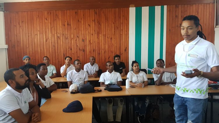 Youth leading training in South Africa