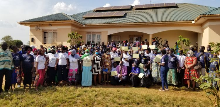 285 women come together to learn about business and entrepreneurship at the Kiryandongo Refugee Settlement