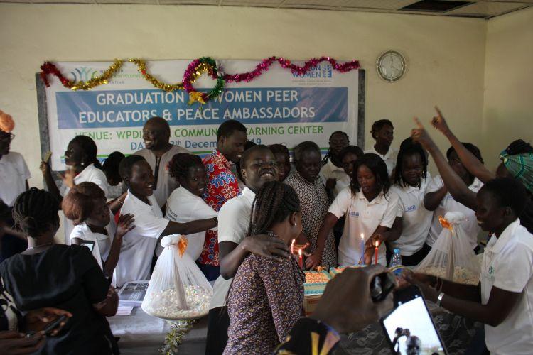 Women in South Sudan celebrate graduation from WPDI Training program