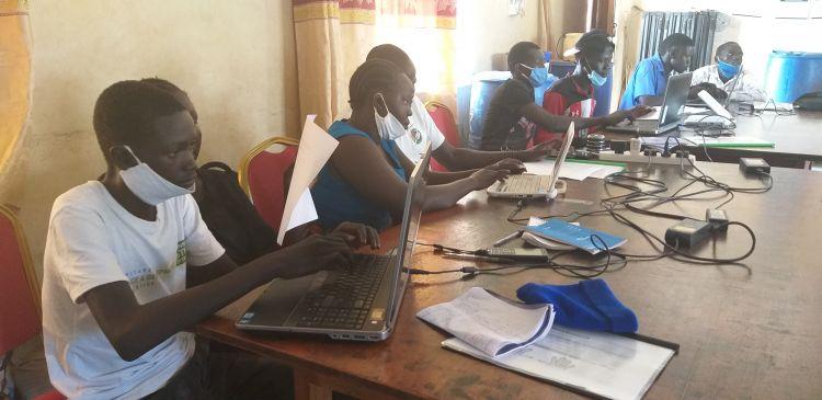 Youth in South Sudan training in WPDI