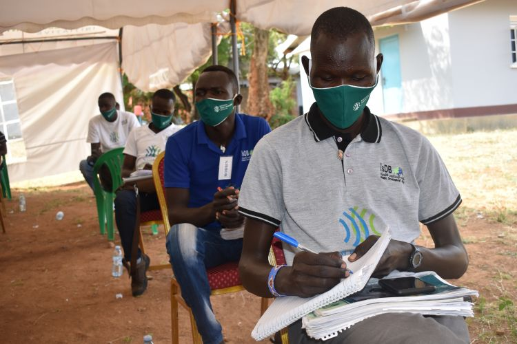 Youths learning in Karamoja, Uganda to become WPDI Youth Peacemakers
