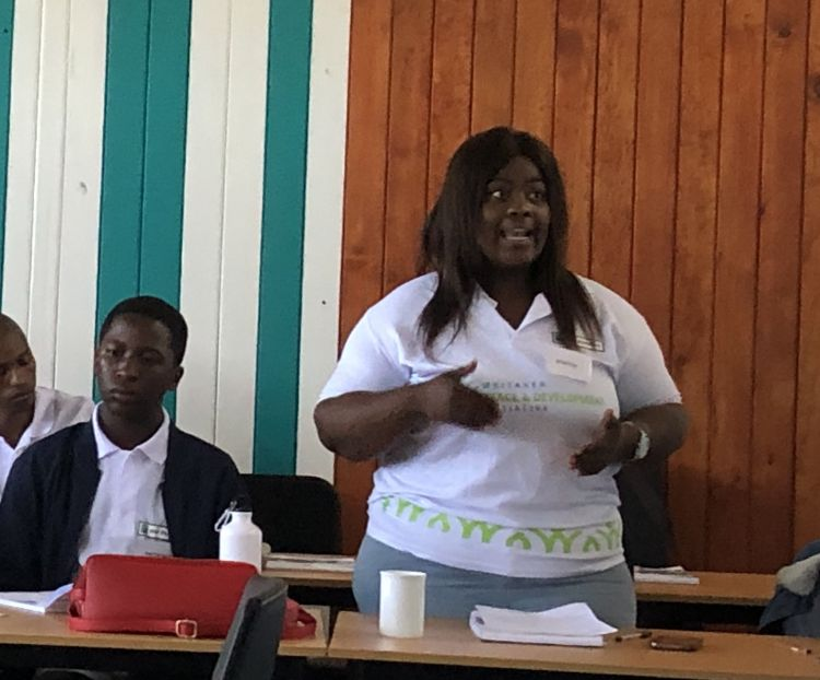 Youth speaking up at training