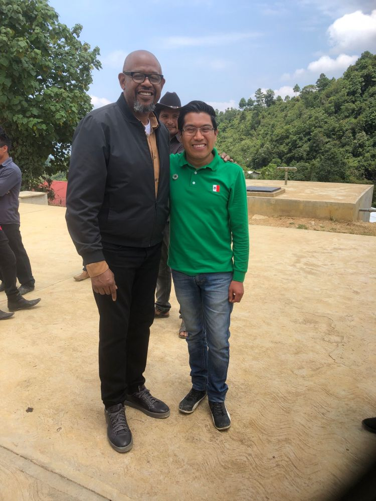 Forest Whitaker and Victor Santiz Garcia